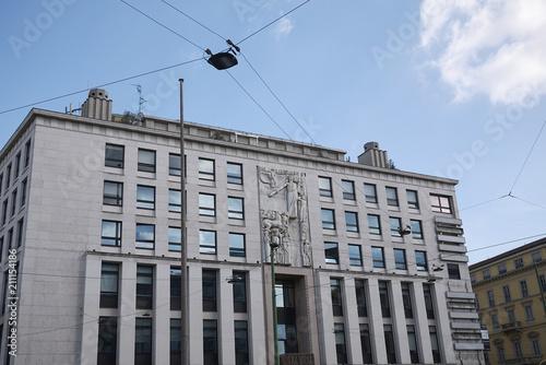 Aluminium Milan Milan, Italy - June 08, 2018 : View of Palazzo dell informazione