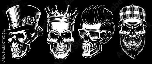 Fototapeta Set of Vintage Skulls.