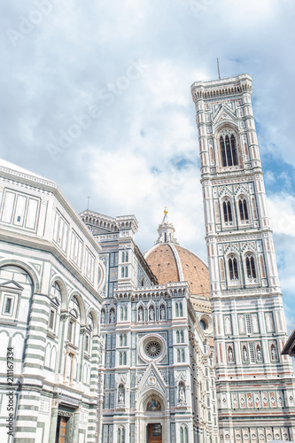 Fotobehang Florence view of the Cathedral of Santa Maria del Fiore in the center of Florence Italy