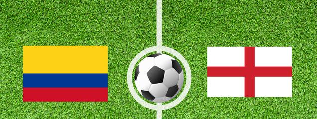 Fußball Achtelfinale - Kolumbien gegen England