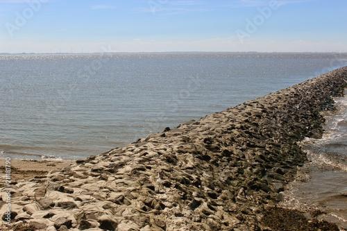 Plexiglas Noordzee Nordseeküste in Niedersachsen, Deutschland