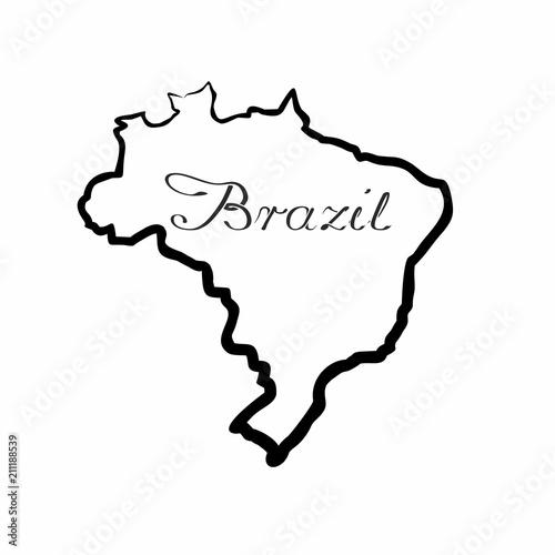 Fototapeta the Brazil map