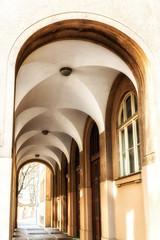 Prague - external corridor of old house © atosan