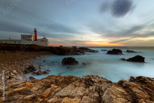 Fotobehang Vuurtoren Cabo Raso