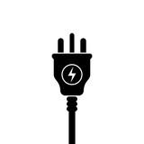 UK Electric Plug icon, symbol. United Kingdom, Great Britain standart. lightning sign - 211206318