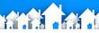 Group of houses illustration - 3d render
