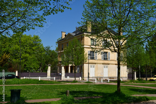 Maisons Laffitte; France - april 20 2018 : city in spring
