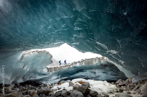 Leinwanddruck Bild Gletschertor im Obersulzbachtal
