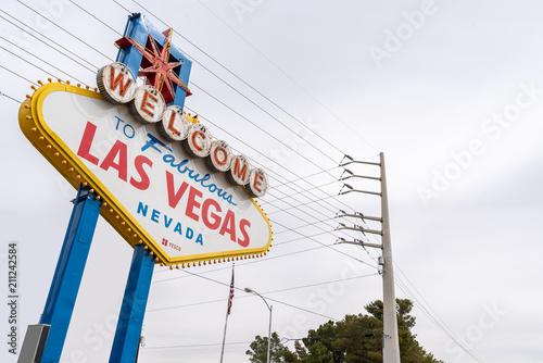 Foto Spatwand Las Vegas Famous Las Vegas sign