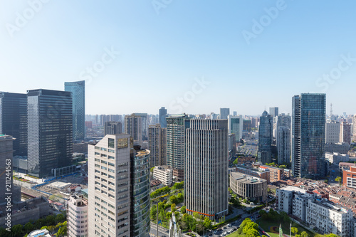 Plexiglas Shanghai modern office buildings in shanghai