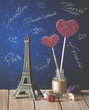 Eiffel tower in Paris, city of love, France, travel tourism and adventure