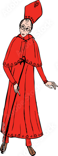 Vector drawing of a Catholic priest