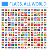 All World Flags - New 2018 - Vector Rectangle Flat Icons. New versions of Afghanistan and Mauritania flags and Additional List of Other States - 211268559