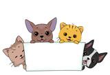 Pet Parade Banner Cat Dog Illustration