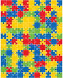 Separate pieces of colorful puzzle, vector illustration - 211272957