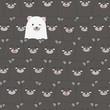 Cute adorable funny teddy bear cartoon seamless pattern background wallpaper - 211279924