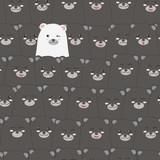 Cute adorable funny teddy bear cartoon seamless pattern background wallpaper