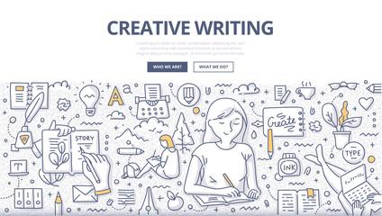 Creative Writing Doodle Concept © Rassco