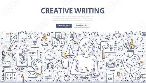 Fototapeta Creative Writing Doodle Concept