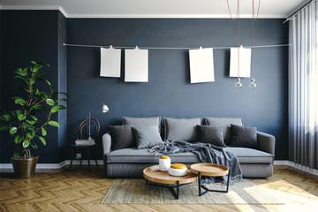 3d beautiful interior render © DigitalGenetics