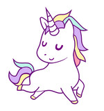 the unicorn on blue background and stars