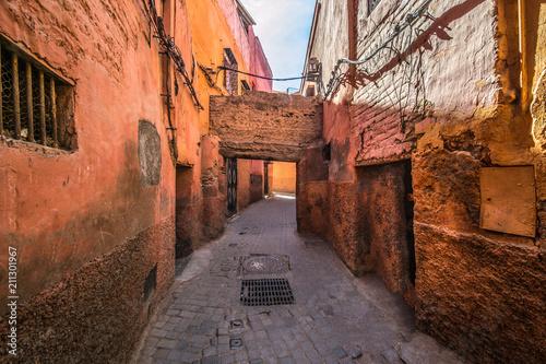 Fotobehang Marokko Alley in Marrakesh, the Morocco