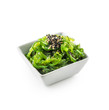 Leinwanddruck Bild - Wakame salad with seaweed and sesame seeds.