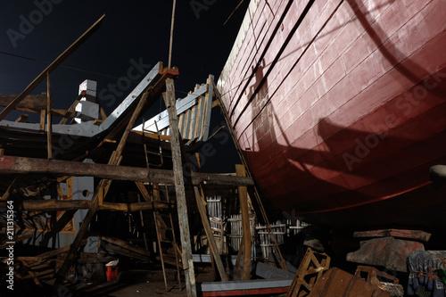 Fotobehang Schip Essaouira shipyard