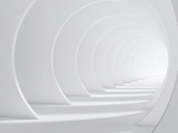 Fototapeta Fototapety do przedpokoju - Abstract white bent 3d tunnel © eugenesergeev