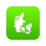 Holland icon green vector isolated on white background