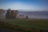 Countryside autumn landscape of Friesland, Netherlands, early morning. - 211330191