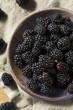Leinwanddruck Bild - Raw Black Organic Blackberries