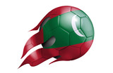 Flying Soccer Ball with Maldives Flag - 211346552