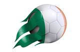 Flying Soccer Ball with Ireland Flag
