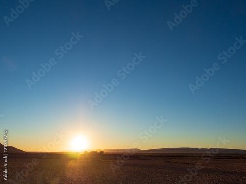 Fotobehang Marokko Sunset In The Desert