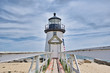A lighthouse on the island of Nantucket