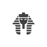 Egyptian pharaoh vector icon. filled flat sign for mobile concept and web design. Tutankhamen mask simple solid icon. Symbol, logo illustration. Pixel perfect vector graphics - 211356725