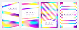 multicolor geometric backgrounds, cover templates
