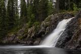 Komulankongas waterfall in Hyrynsalmi, Finland.