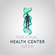 National Health Center Week vector logo icon illustration