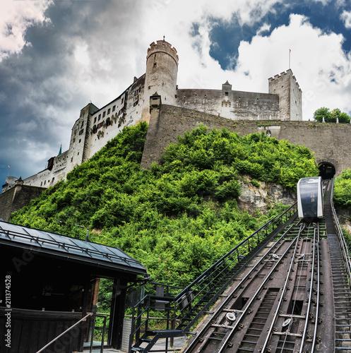 Aluminium Spoorlijn Festung Hohensalzburg mit Festungsbahn