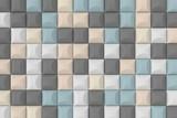 Modern tile wall. 3D rendering. - 211375706