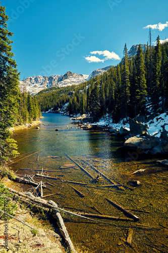 Lake Verna, Rocky Mountains, Colorado, USA.