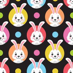 Cute Little Bunny Seamless Pattern