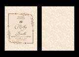 Wedding invitations flourishes ornaments cards,floral invite card Design. save the date, thank you and information design. Vintage victorian frames and decorations. Vector elegant template. - 211391969