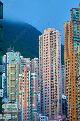 HONG KONG - JUNE 30, 2018: Spectacular view of Hong Kong Housing