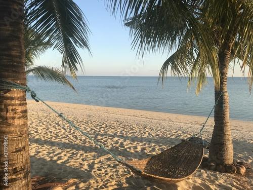Aluminium Tropical strand Hammock on white sand beach, Modessa Island, Palawan, Philippines