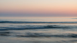 Beautiful colorful vibrant sunrise over low tide beach landscape peaceful scene - 211402164
