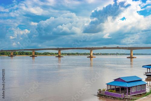 Kizuna Bridge in Kampong Cham, Cambodia.