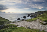 Landscape image of Bedruthan Steps, famous rock stacks in Cornwall England - 211402341